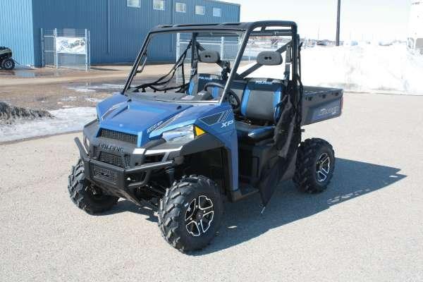 polaris ranger xp 900 eps blue le 2014 new atv for sale in yorkton saskatchewan
