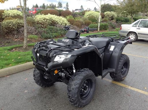 honda trx420 rancher dct irs eps black 2017 new atv for sale in langley   serving greater