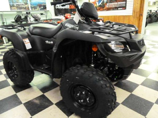 2018 Suzuki KingQuad 750AXi Power Steering Matte Black Photo 3 of 6