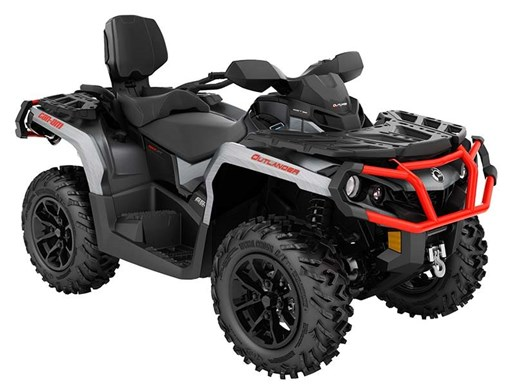 2018 Can-Am Outlander MAX XT 650 Brushed Aluminum / Can-Am Red Photo 1 of 1