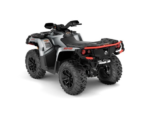 2018 Can-Am Outlander™ XT™ 850 Brushed Aluminum & Can-Am Red Photo 2 of 2
