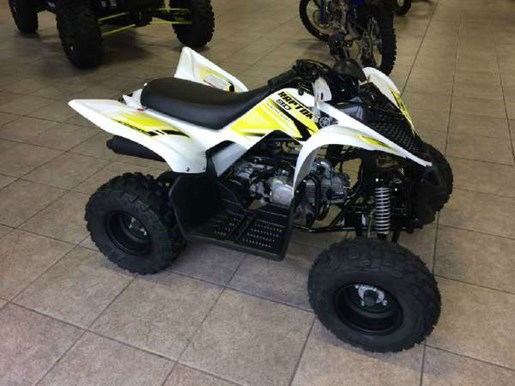 yamaha raptor 90 white 2018 new atv for sale in timmins ontario. Black Bedroom Furniture Sets. Home Design Ideas