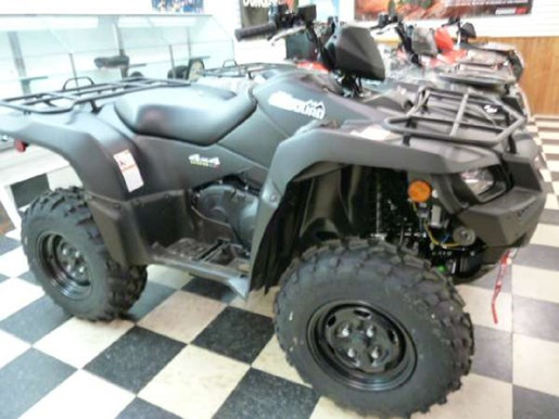 2018 Suzuki KingQuad 500AXi Power Steering Matte Black Photo 2 of 4