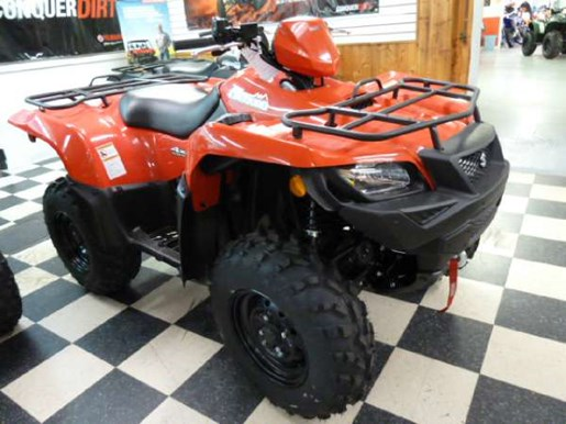 2017 Suzuki KingQuad 500AXi - Flame Red Photo 2 of 4