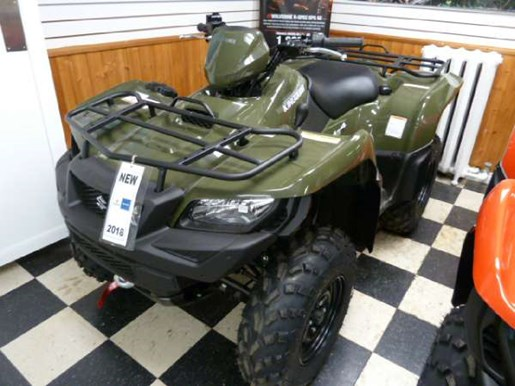 2018 Suzuki KingQuad 500AXi Green Photo 1 of 3
