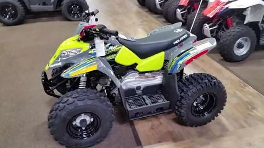 2018 Polaris Outlaw 50 Avalanche Grey / Lime Squeeze Photo 1 of 2
