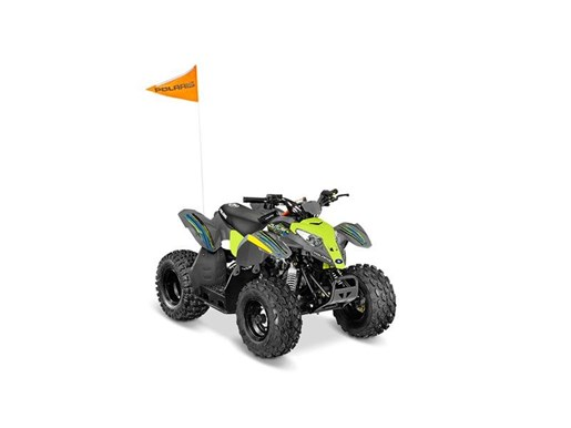 2018 Polaris Outlaw 50 Avalanche Grey / Lime Squeeze Photo 2 of 2