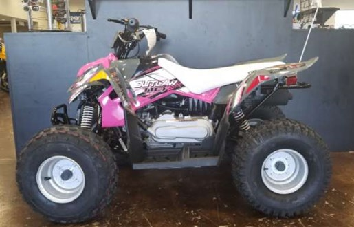 2018 Polaris Outlaw 110 Avalanche Grey / Pink Power Photo 1 of 1