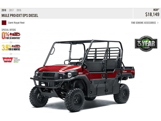 2018 Kawasaki Mule Pro-DXT EPS Photo 2 of 10