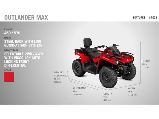 2018 Can-Am Outlander Max 450 Photo 3 of 8