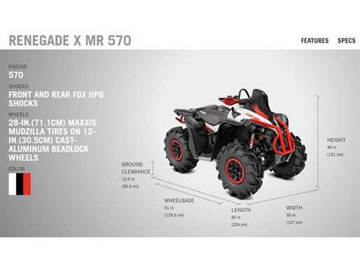 2018 Can-Am Renegade X mr 570 Photo 4 of 8