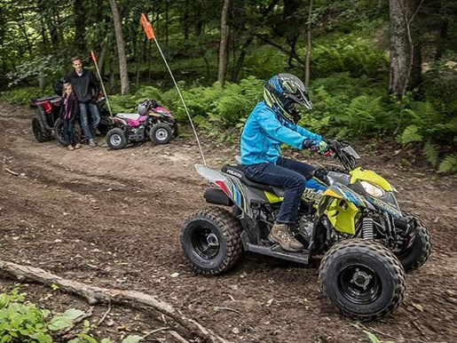 2018 Polaris OUTLAW 110 EFI GREY/PINK / 19$/sem Photo 2 sur 7