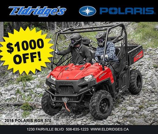 2018 Polaris Ranger® 570 Full-Size Solar Red Photo 1 of 1