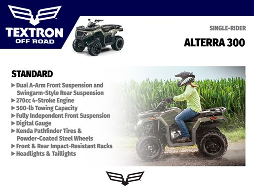 2018 Textron Off Road Alterra 300 Photo 4 of 4