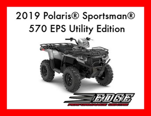 2019 Polaris Sportsman 570 EPS Utility Edition Photo 1 of 2