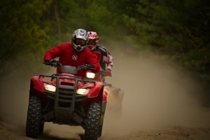 atv ride dust fast