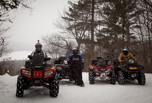 Winter ATV Corrie Lee Haliburton Forest Group