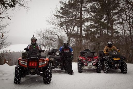Winter ATV Corrie Lee Haliburton Forest Group