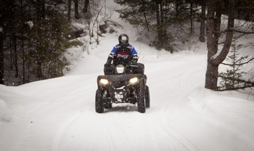 Winter ATV Shawn Hynes Snow Riding