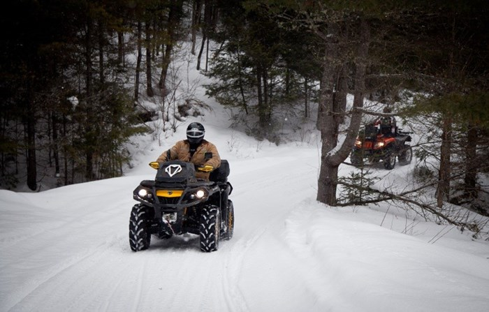 Winter ATV Corrie Lee Haliburton Forest Trail