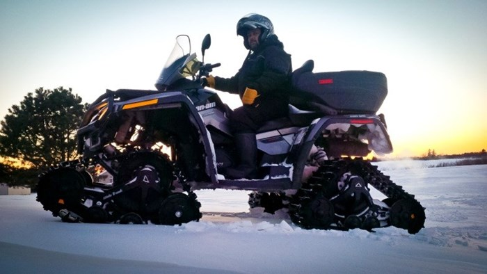 Winter ATV Shawn Hynes Can Am On Tracks