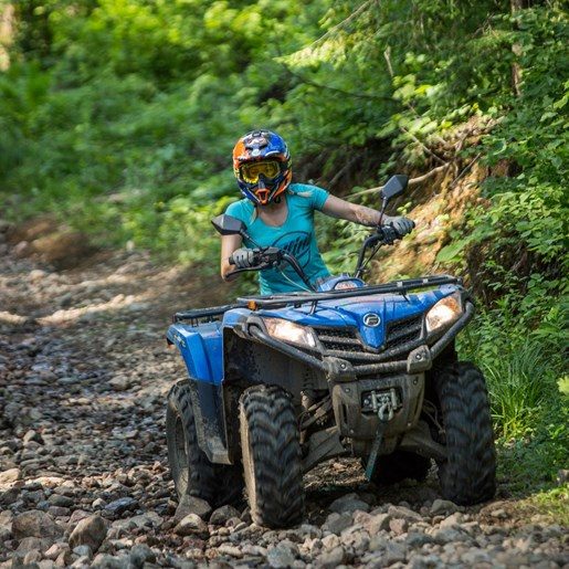 CFMOTO CForce 400 Review Shelby Mahon ATVing Madawaska Valley - Virgil Knapp