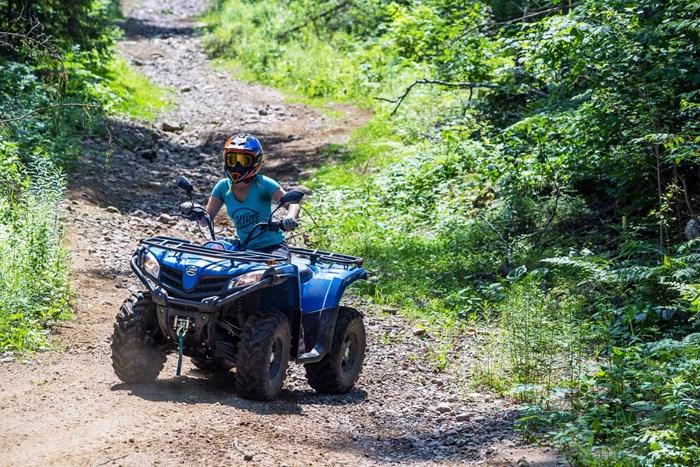 CFMOTO CForce 400 Review riding Madawaska Valley Ontario