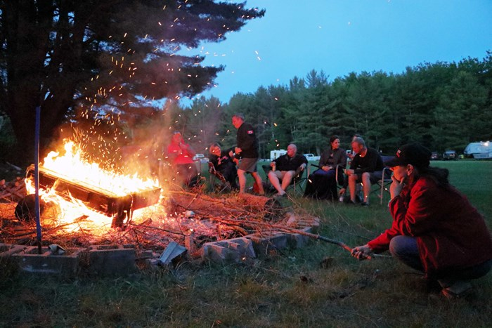 Ontario ATV Rentals and Tours - David Bouthillier - at the fire at the ride IMG 4480