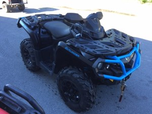 Can-Am Outlander™ XT™ 1000R Matte Black & Octane Blue 2016