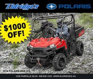 Polaris Ranger® 570 Full-Size Solar Red 2018