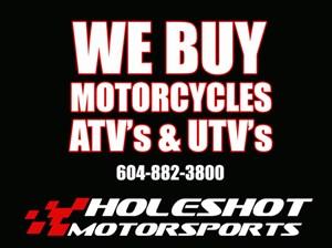 Yamaha We Buy Motorcycles, ATV's & UTV's 2019