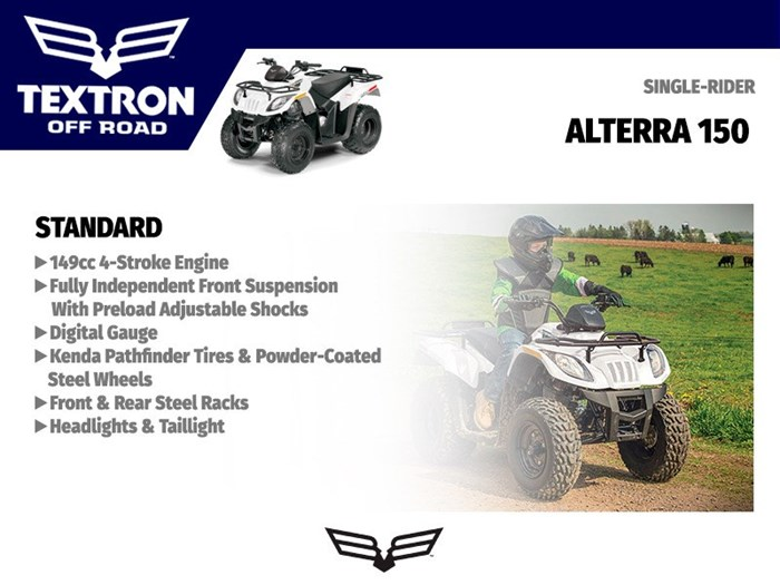 2018 Textron Off Road Alterra 150 Photo 3 of 3