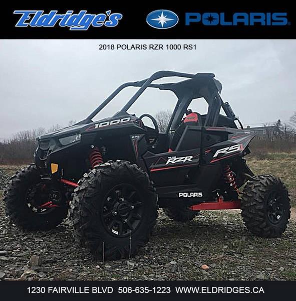 2018 Polaris RZR® RS1 Black Pearl Photo 3 of 6