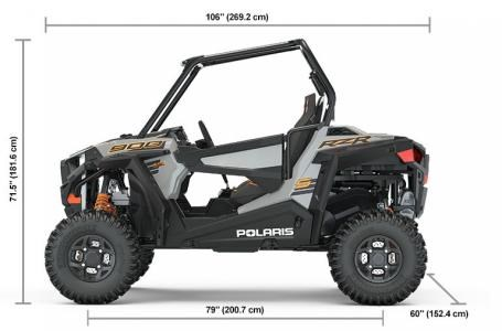 2019 Polaris RZR-19,900S,60,PS,Ghost Grey Photo 5 of 12