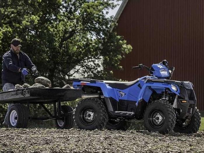 2018 Polaris SPORTSMAN 450 HO EPS VELOCITY BLUE Photo 3 of 9