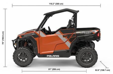 2019 Polaris POLARIS GENERAL 1000 Deluxe Orange Rust Photo 4 of 10