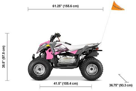 2020 Polaris Outlaw 110 Avalanche Gray/Pink Power Photo 2 of 5