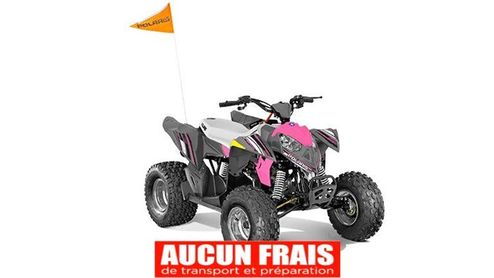 2020 Polaris Outlaw 110 Avalanche Gray/Pink Power Photo 1 of 5