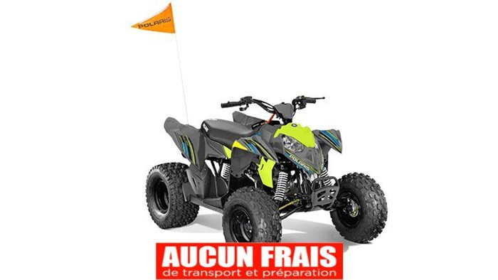 2020 Polaris Outlaw 110 Avalanche Gray/Lime Squeeze Photo 1 of 5