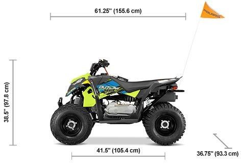 2020 Polaris Outlaw 110 Avalanche Gray/Lime Squeeze Photo 2 of 5