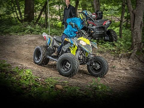 2020 Polaris Outlaw 110 Avalanche Gray/Lime Squeeze Photo 3 of 5