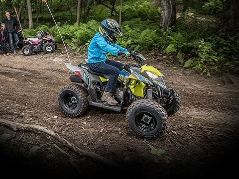 2020 Polaris Outlaw 110 Avalanche Gray/Lime Squeeze Photo 4 of 5