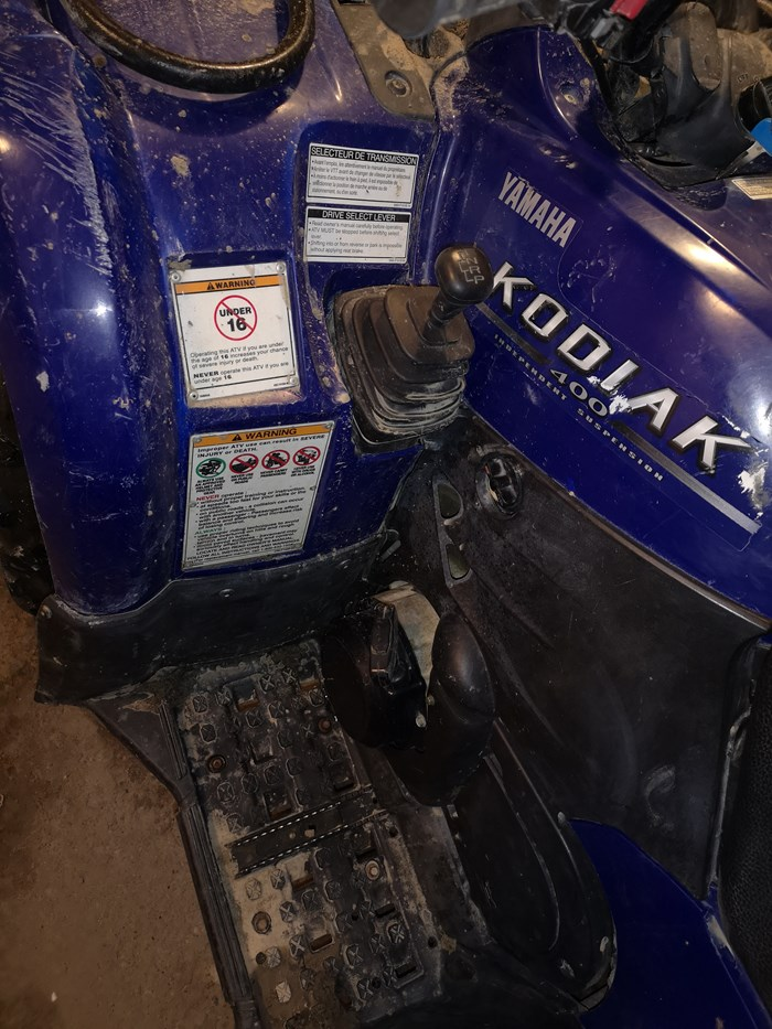 2005 Yamaha Kodiak 400 independent suspension Photo 3 of 3