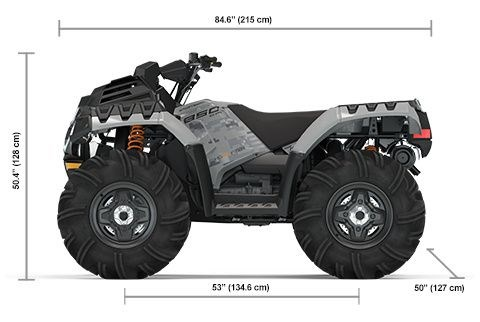 2021 Polaris Sportsman 850 High Lifter Ghost Gray Photo 9 of 9